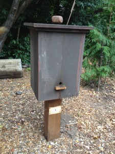 Plank hive, common in rural areas before the Langstroth hive.